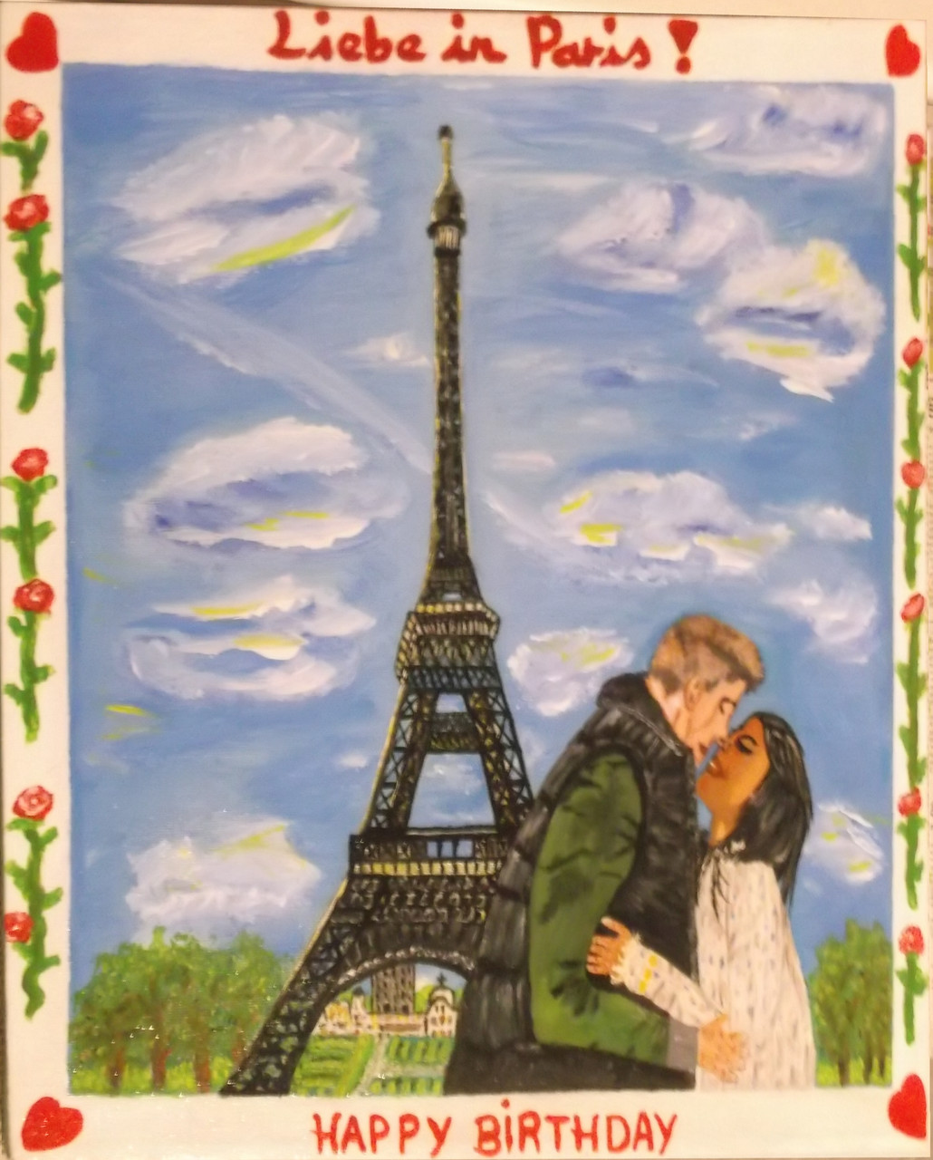 Liebe in Paris 50 x 70 cm Leinwand