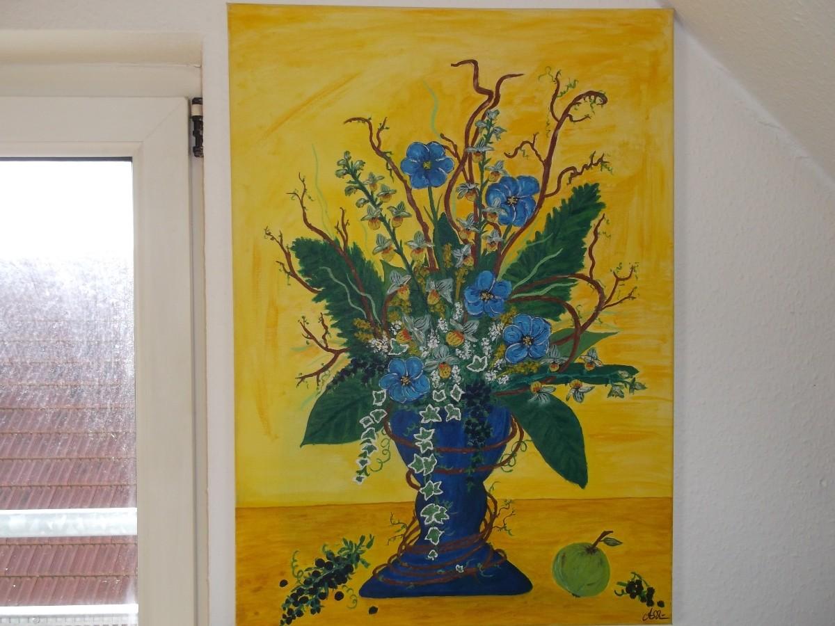 Stilleben mit Vase: (Leinwand) 50 cm x 70 cm