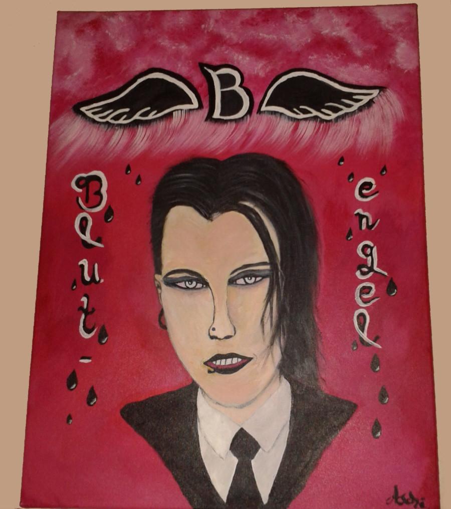 Blutengel Sänger (Chris Pohl) in Farbe