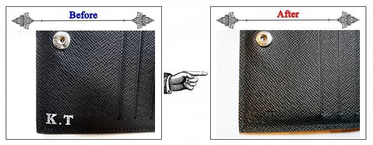 ルイヴィトン商品イニシャル刻印の消し方・取り方