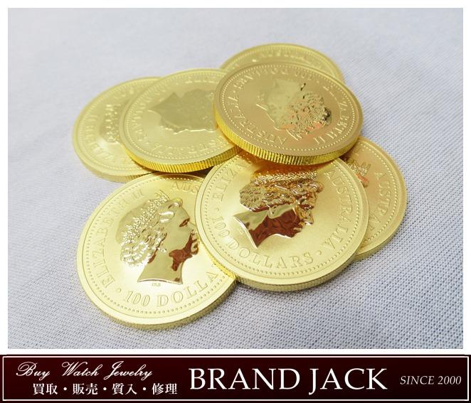 エリザベス2世 100ドル 1オンス 金貨 オーストラリアを仙台で高額買取