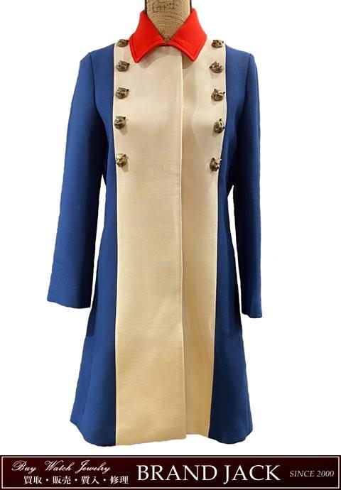 グッチ トリコロールカラー グッチガーデン キャット ロングコート 洋服を仙台で高額買取