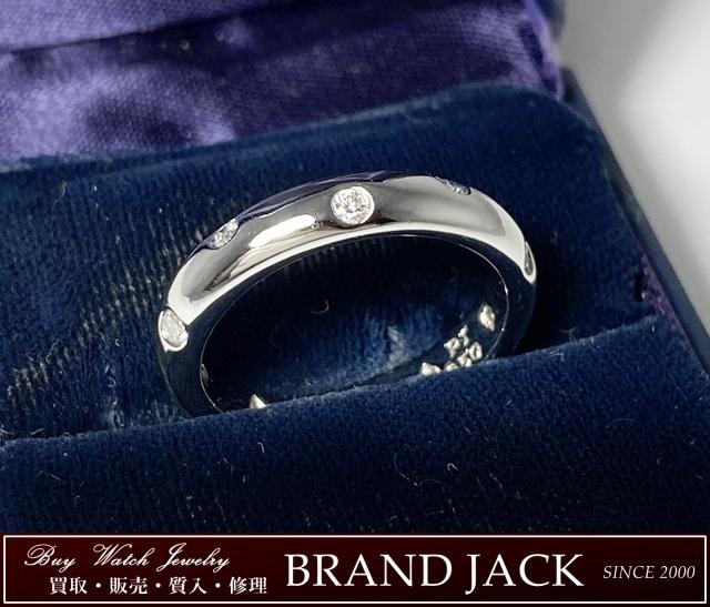 ティファニー Pt950 ダイヤモンド ドッツ リング 指輪を仙台で高額買取