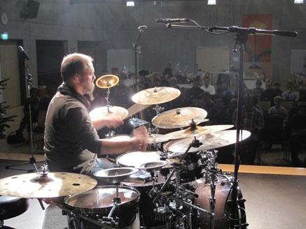 Claus Hessler beim Drummer Workshop im Musikzentrum der Musikschule Oberkirch (Photo: Rolf Joachim)