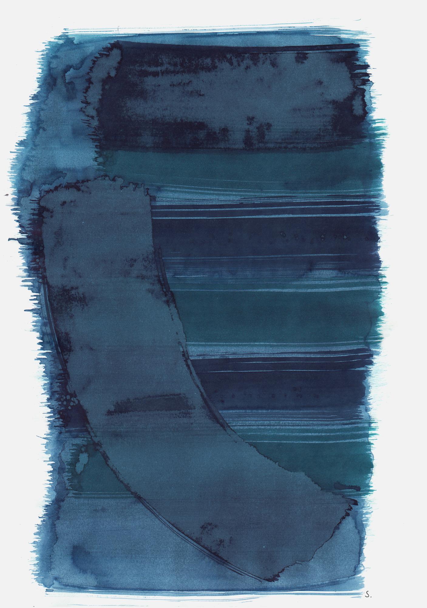 """""""An Tana Adam"""", 2019, Tusche auf Papier, 48 x 36cm; ©: Konstanze Sailer [Adam, Tana; * 28.10.1942 in Berlin; deportiert aus Berlin; † nach dem 12.01.1943 in Auschwitz]"""