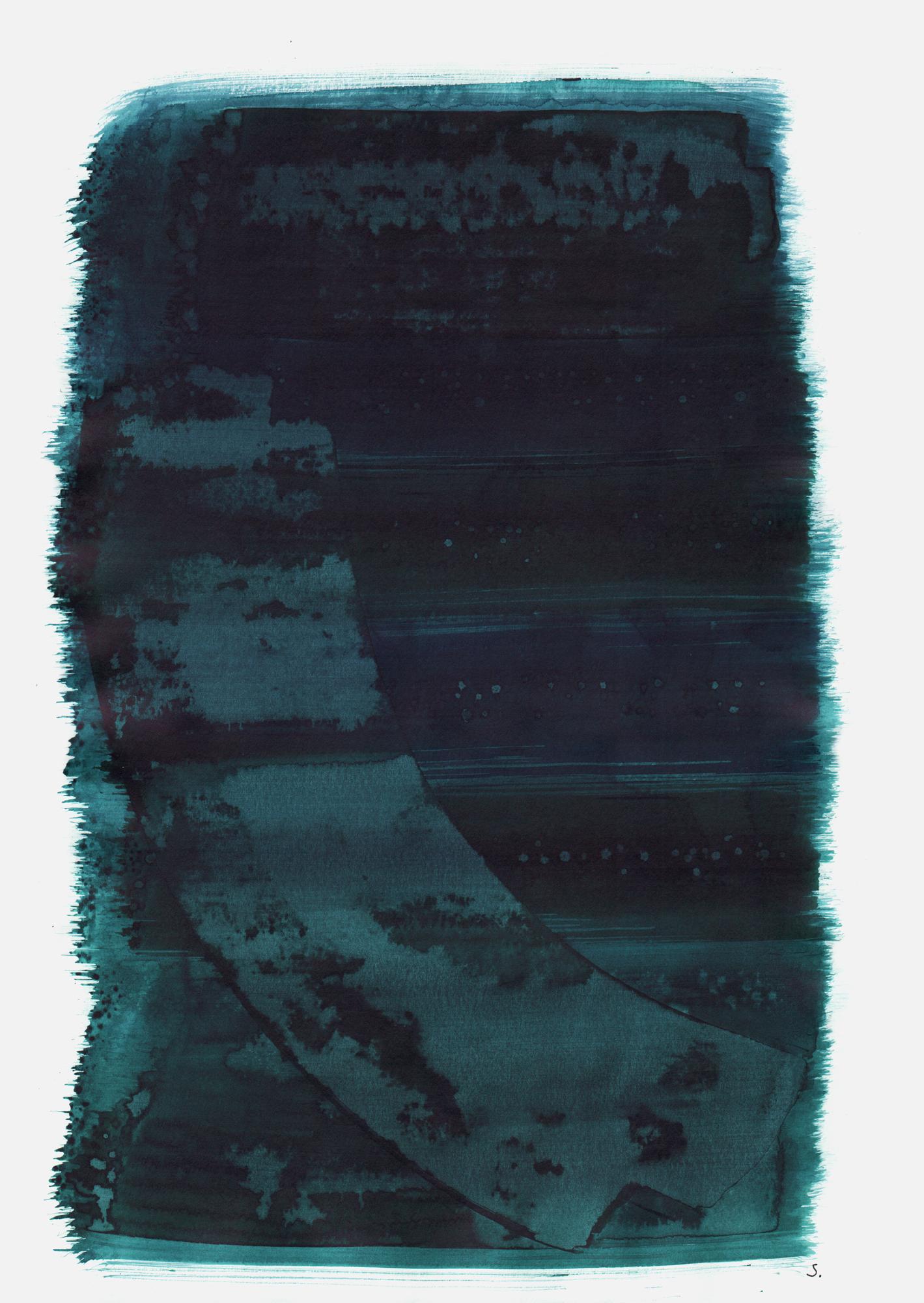 """""""An Ruben Einstein"""", 2019, Tusche auf Papier, 48 x 36cm; ©: Konstanze Sailer [Einstein, Ruben; * 28.06.1939 in Mannheim; deportiert aus München; † nach dem 13.03.1943 in Auschwitz]"""