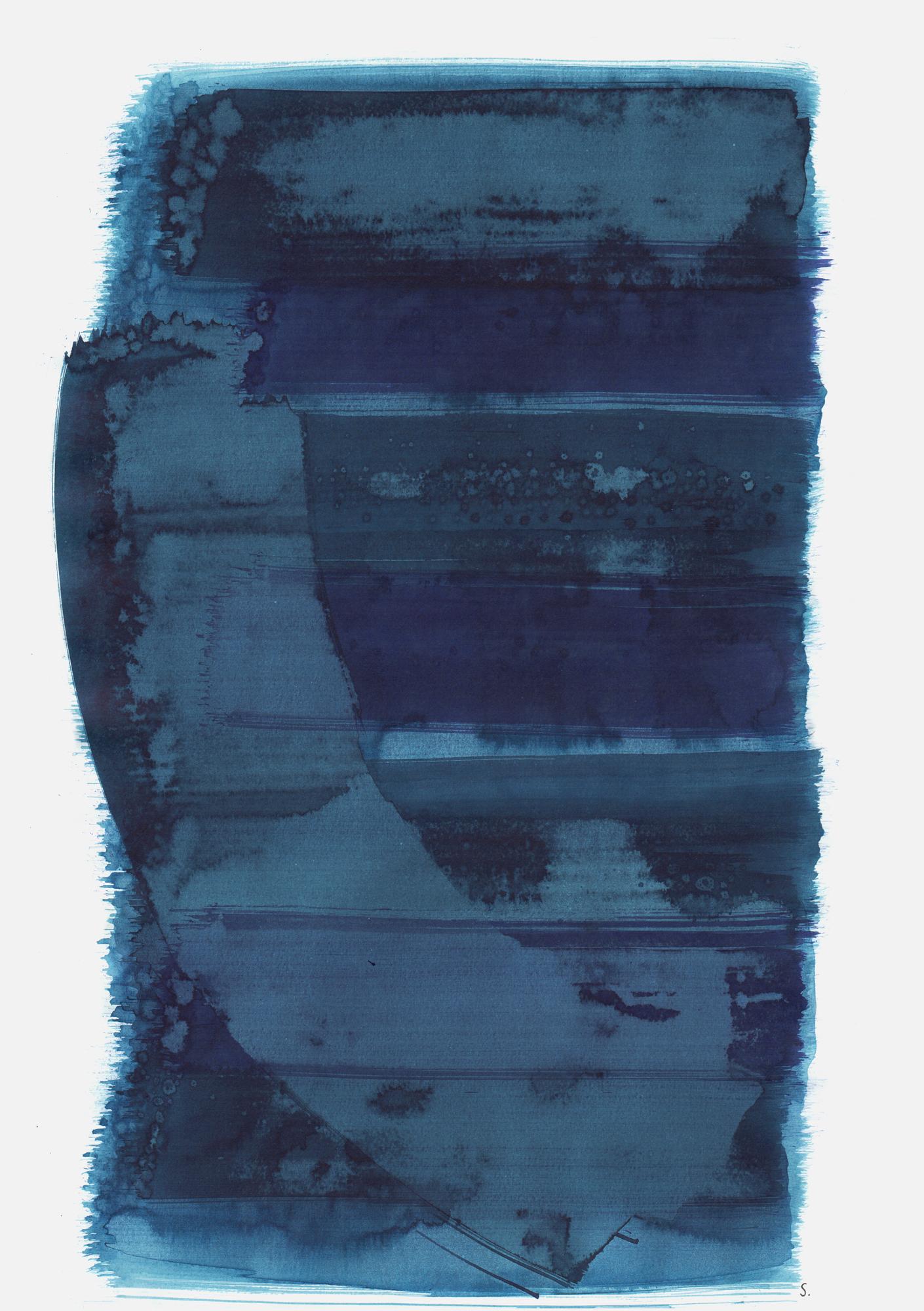 """""""An Lili Perlstein"""", 2019, Tusche auf Papier, 48 x 36cm; ©: Konstanze Sailer [Perlstein, Lili; * 13.09.1929 in Hamburg; deportiert aus Gelsenkirchen; † nach dem 02.03.1943 in Auschwitz]"""