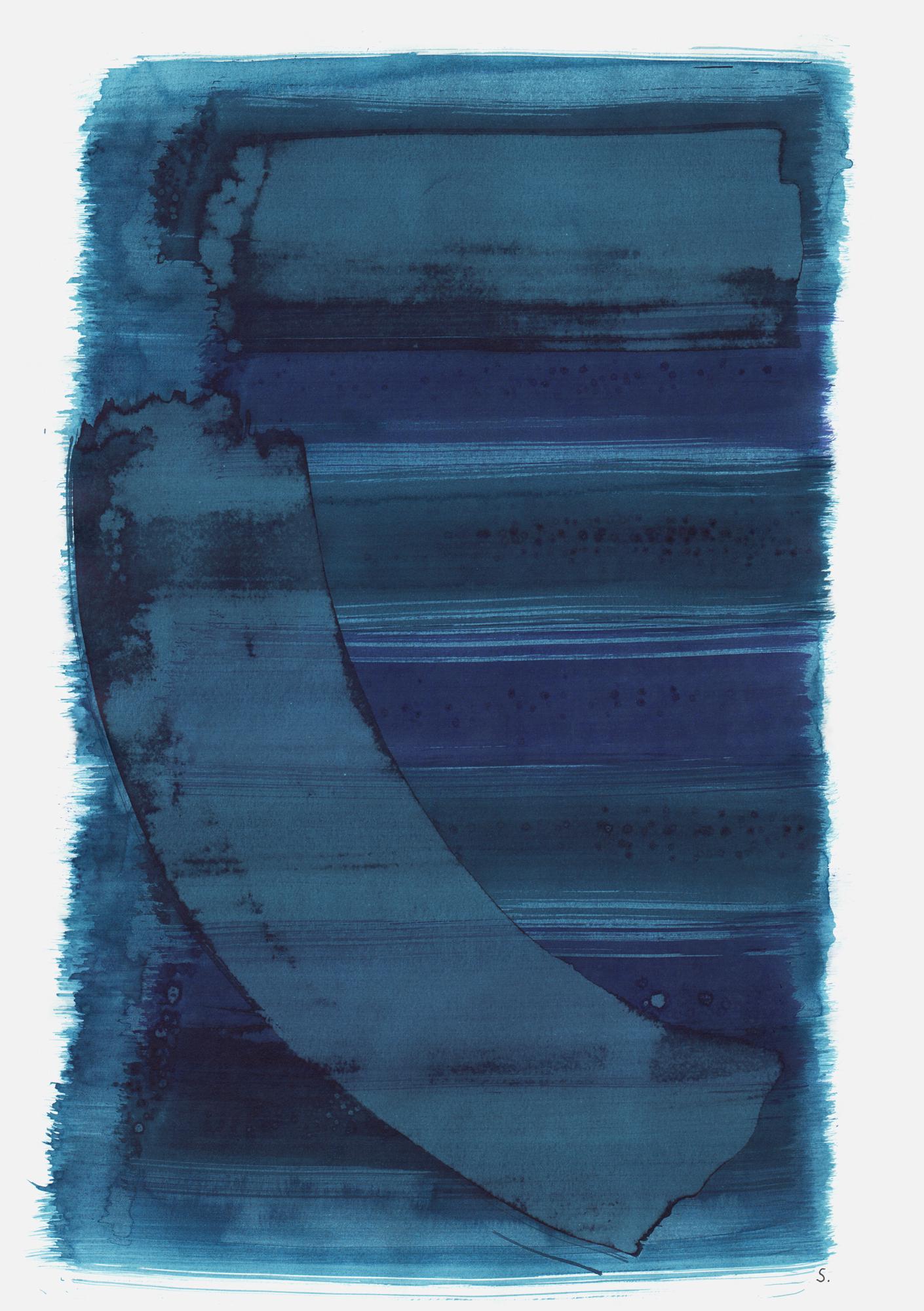 """An Hanni Magier"", 2019, Tusche auf Papier, 48 x 36cm; ©: Konstanze Sailer [Magier, Hanni; * 21.11.1931 in Berlin; deportiert aus Berlin; † 15.05.1942 in Kulmhof/Chelmno]"