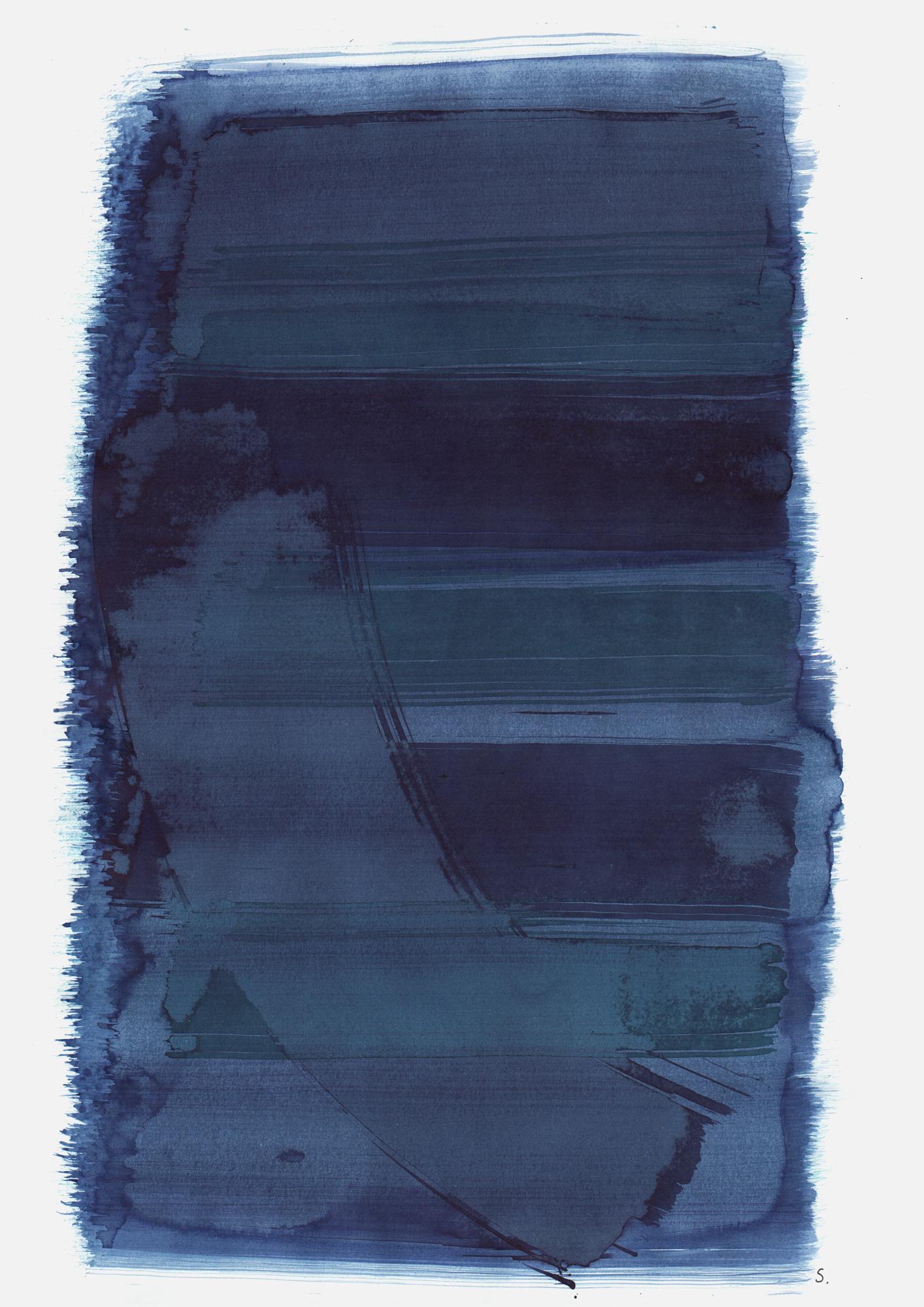 """""""An Denny Herzfeld"""", 2019, Tusche auf Papier, 48 x 36cm; ©: Konstanze Sailer [Herzfeld, Denny; * 01.04.1940 in München; deportiert aus Paderborn; † 02.03.1943 in Auschwitz]"""