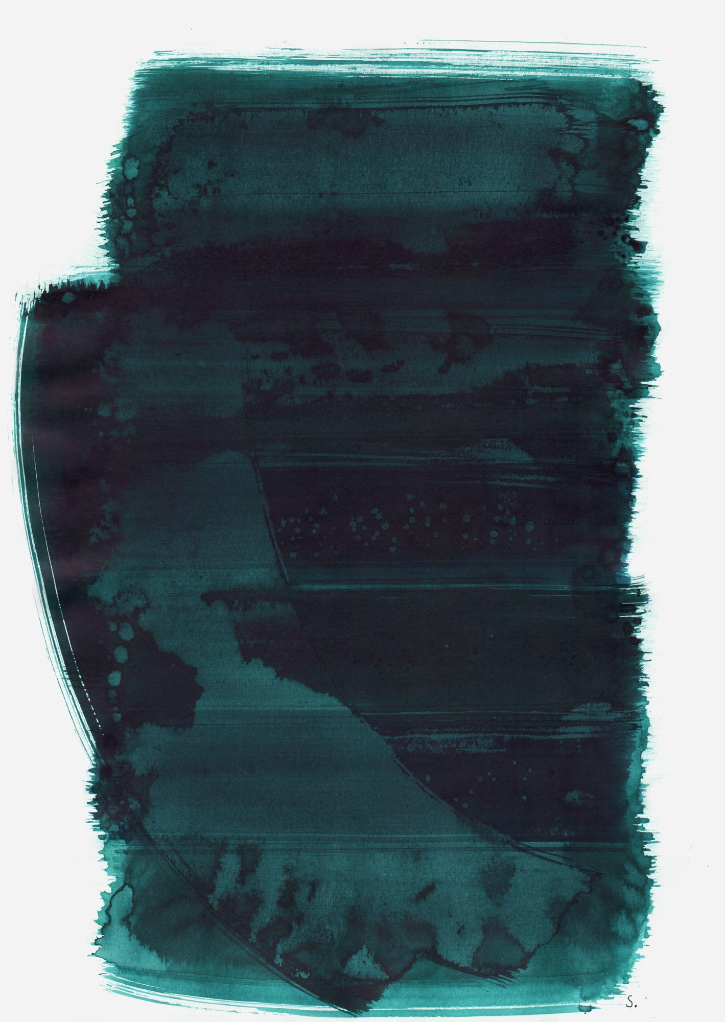 """An Louis van Creveld"", 2019, Tusche auf Papier, 48 x 36cm; ©: Konstanze Sailer [Creveld, Louis van; * 28.07.1930 in Hamburg; deportiert aus Apeldoorn; † 25.01.1943 in Auschwitz]"
