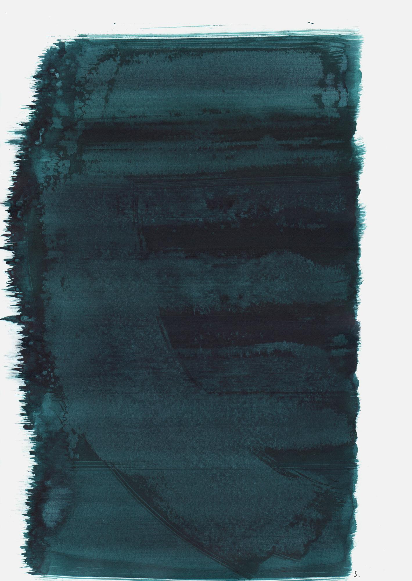 """""""An Klaus Bragenheim"""", 2019, Tusche auf Papier, 48 x 36cm; ©: Konstanze Sailer [Bragenheim, Klaus; * 29.04.1929 in Berlin; deportiert aus Berlin; † 22.10.1942 in Riga]"""