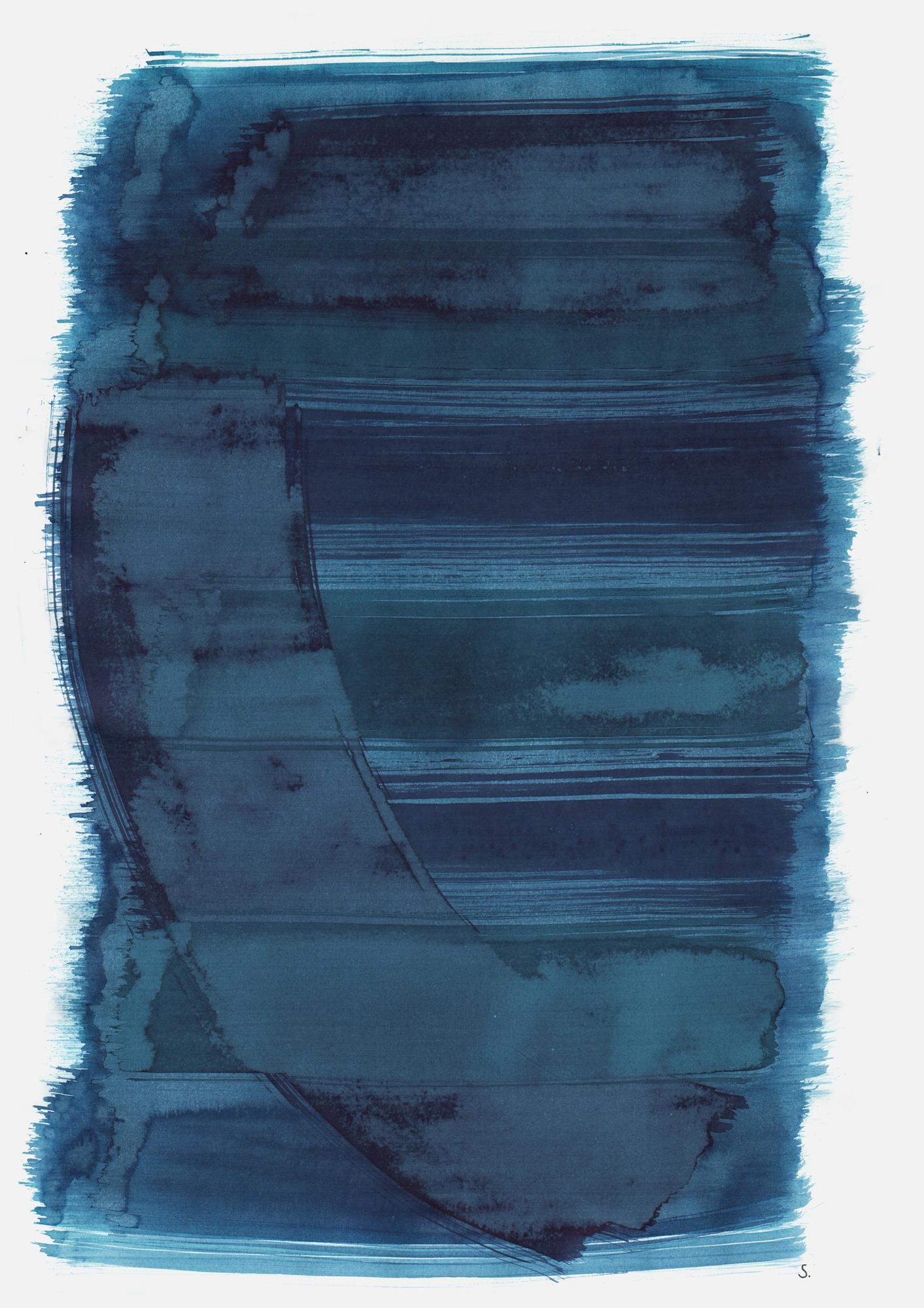 """An Judis Rubin"", 2019, Tusche auf Papier, 48 x 36cm; ©: Konstanze Sailer [Rubin, Judis; * 18.02.1939 in Mannheim; deportiert aus Berlin; † nach dem 09.12.1942 in Auschwitz]"