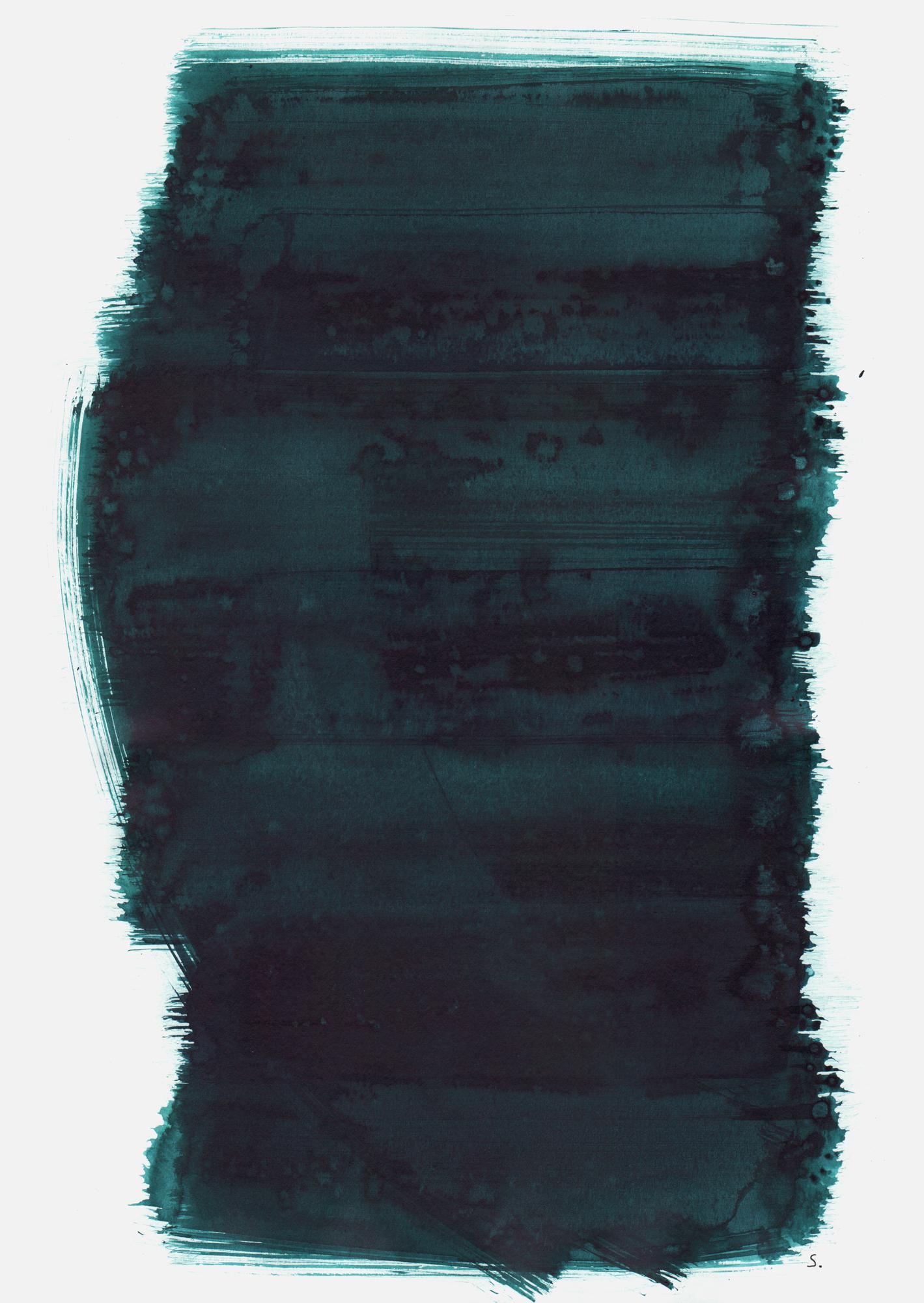 """""""An Albert Julius Flank"""", 2019, Tusche auf Papier, 48 x 36cm; ©: Konstanze Sailer [Flank, Albert Julius; * 24.12.1934 in München; deportiert aus München; † nach dem 04.04.1942 in Piaski]"""