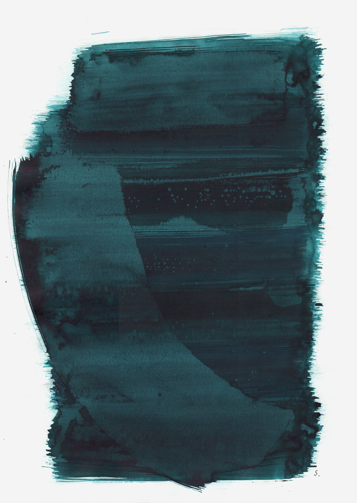 """An Tana Austerlitz"", 2019, Tusche auf Papier, 48 x 36cm; ©: Konstanze Sailer [Austerlitz, Tana; * 12.12.1939 in Berlin; deportiert aus Berlin; † nach dem 04.10.1944 in Auschwitz]"