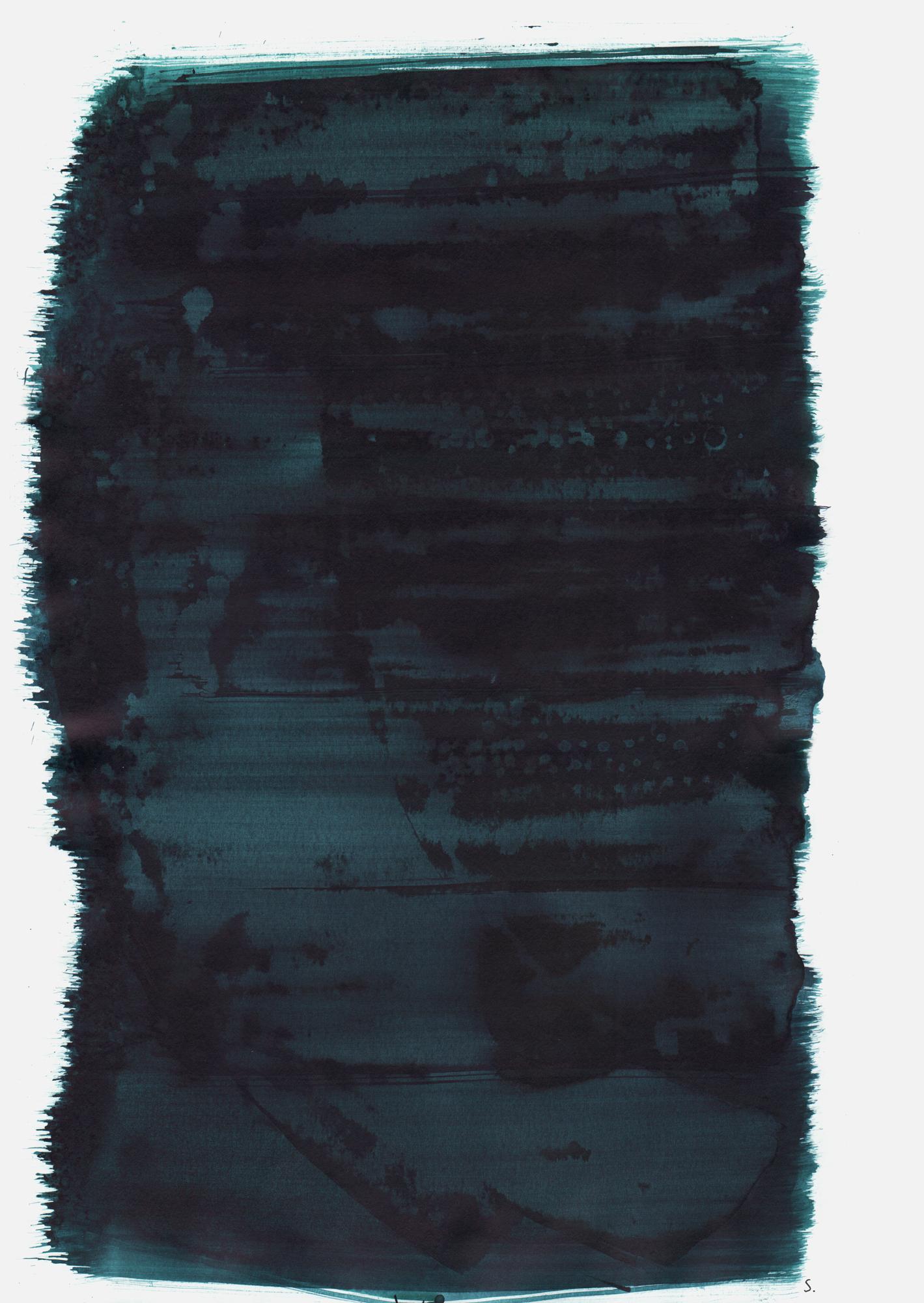 """An Tana Löwengart"", 2019, Tusche auf Papier, 48 x 36cm; ©: Konstanze Sailer [Löwengart, Tana; * 16.10.1938 in Frankfurt; deportiert aus München; † 25.11.1941 in Kowno]"