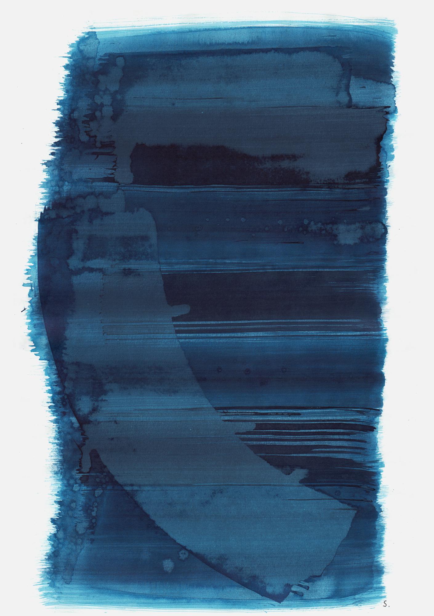 """""""An Kurt Citroen"""", 2019, Tusche auf Papier, 48 x 36cm; ©: Konstanze Sailer [Citroen, Kurt; * 03.02.1927 in Berlin; deportiert aus Westerbork (NL); † 13.07.1944 in Auschwitz]"""