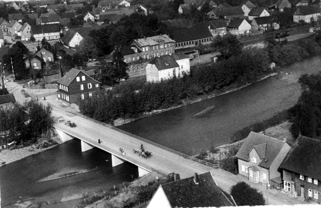 Die neue Oderbrücke wurde 1954 gebaut