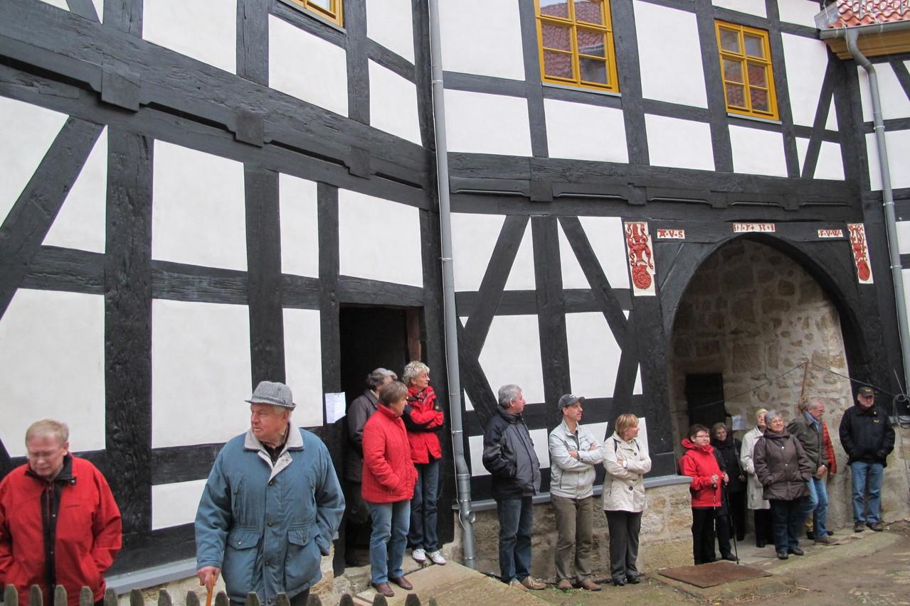 die Kernburg wurde vorerst nur von außen restauriert
