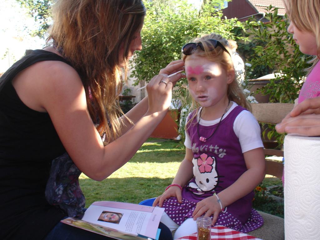 Kinder schminken  ist angesagt