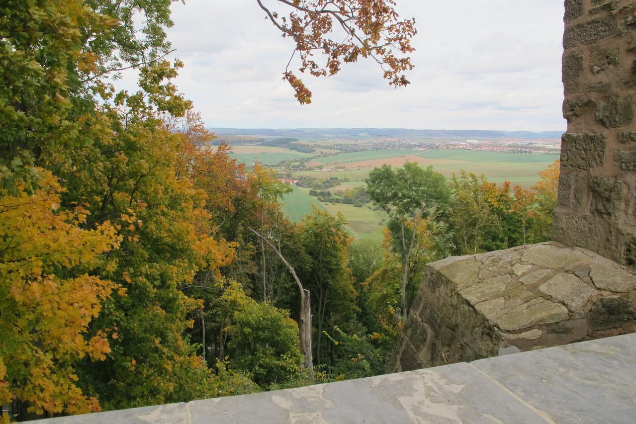 beeindruckende Aussicht von Burg Scharfenstein