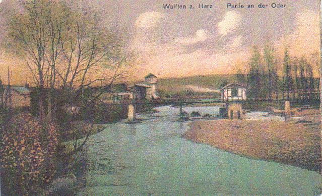 Die kleine Lorenbrücke wurde  bei Kriegsende gesprengt und nicht wieder aufgebaut