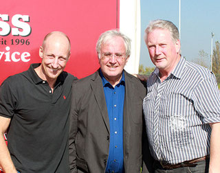 The initiatores of SHC: Thomas Stewens, Dieter Massin, Siggi Wille (from left to right)