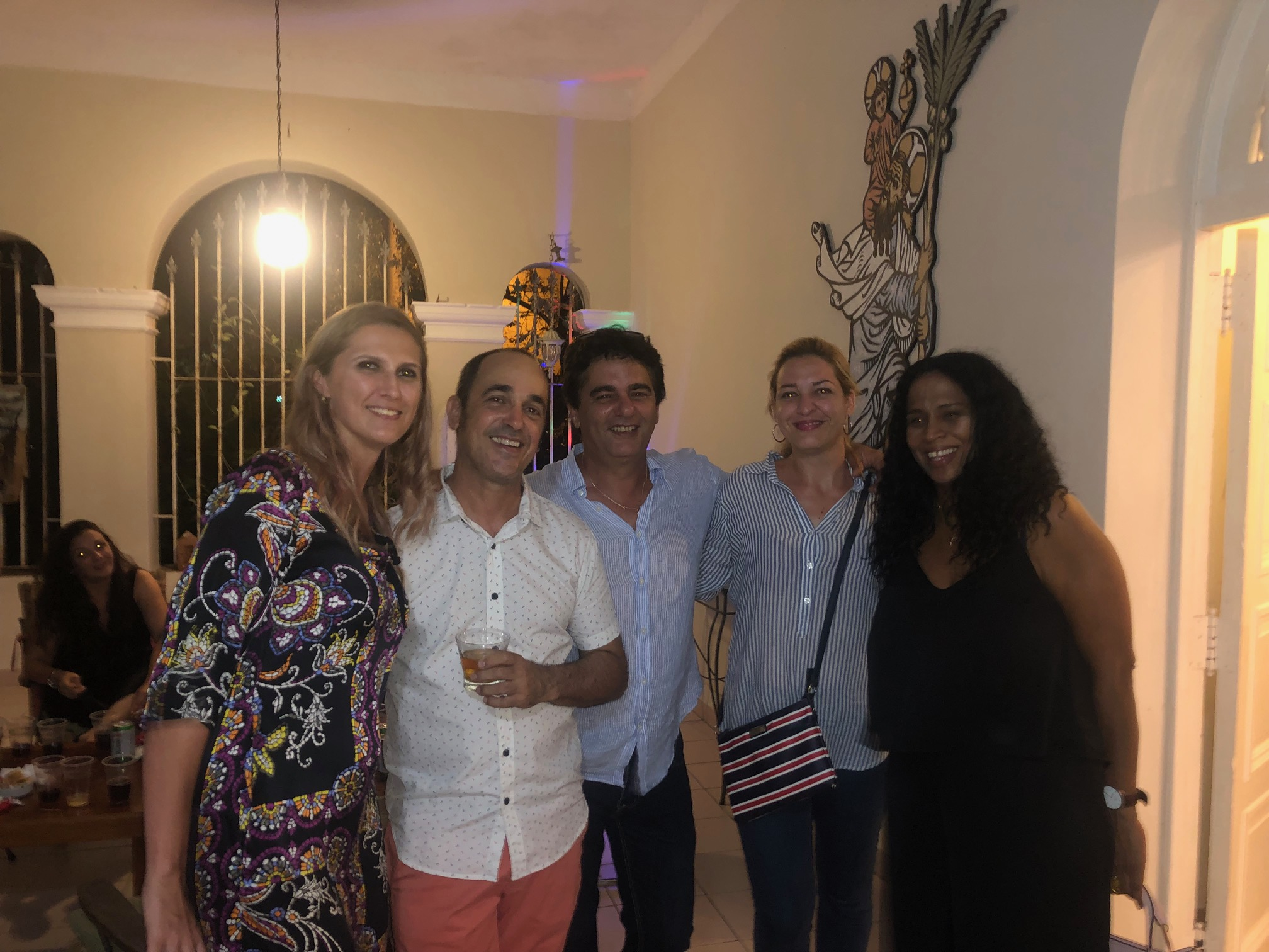 With guests and artist Eduardo Abela Torras with whom Katrin exhibited.