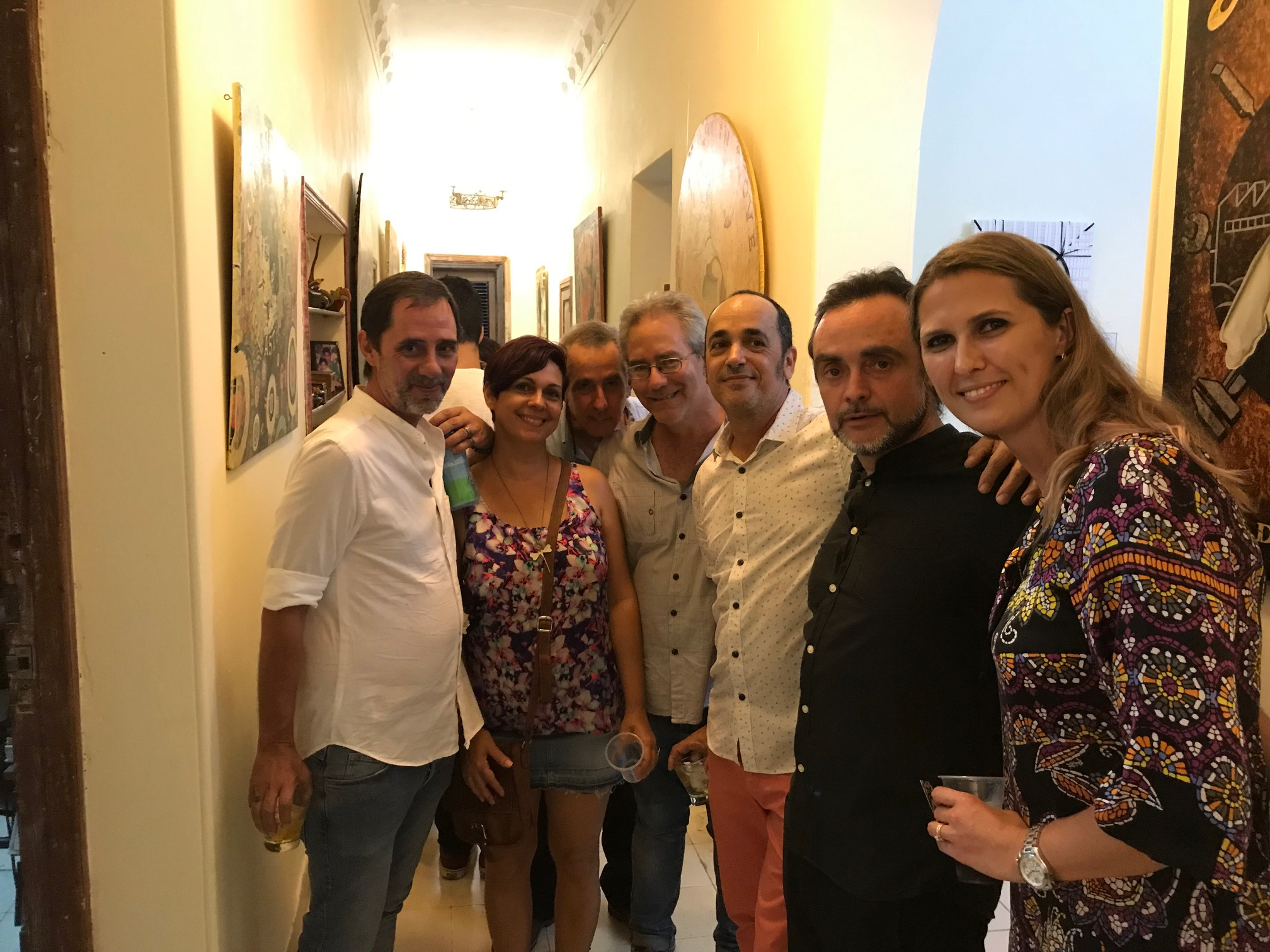 Ernesto Rancaño, Eduardo Abela T. y Katrin Aason junto a más invitados.