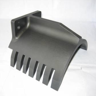5 - Achsen Frästeil, Oberfläche hartanodisiert, hergestellt für den Maschinenbau / Tabacksparte