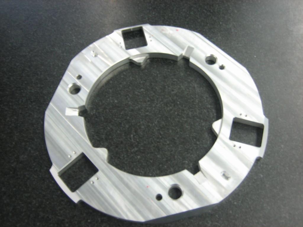 aus Aluminium gefertigtes Dreh- und Frästeil