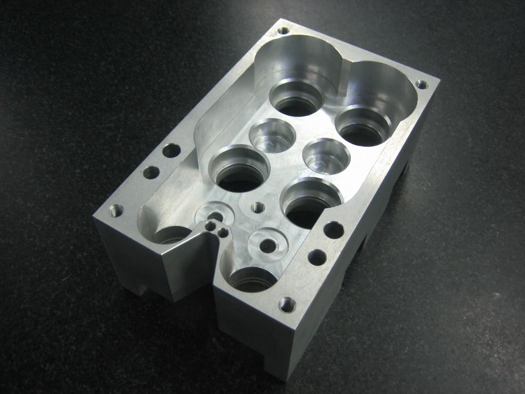 Lagergehäuse aus Aluminium, hergestellt für den Maschinenbau