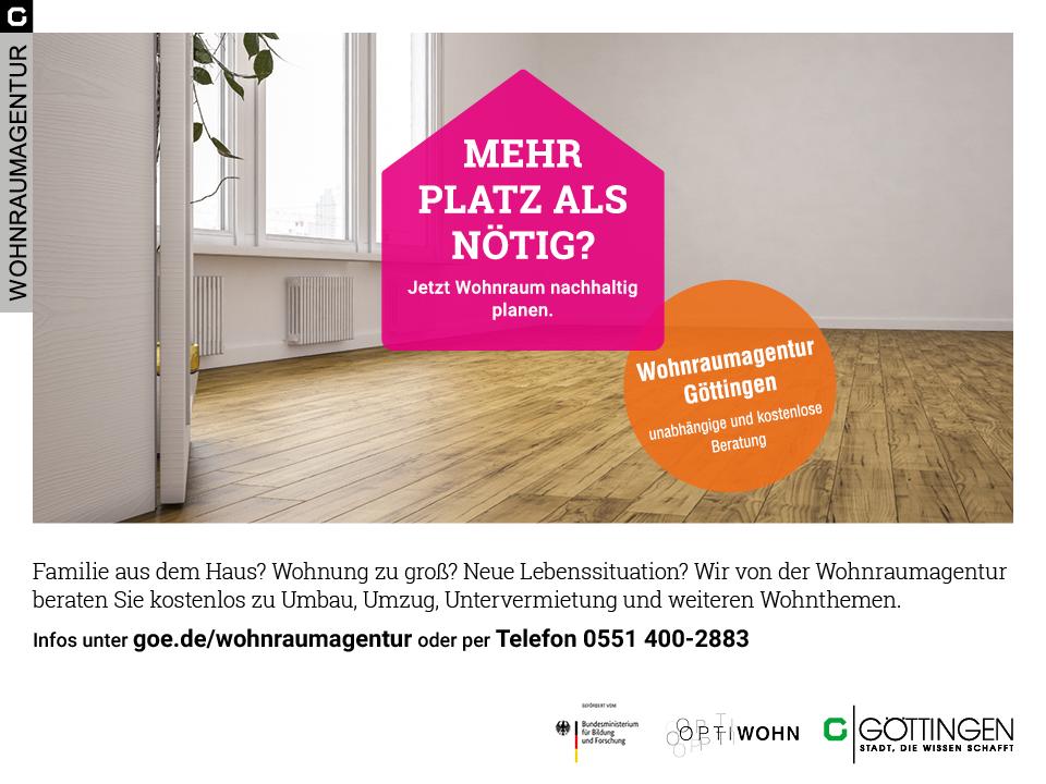 """""""Göttingen schafft Platz"""" - Wohnraumagentur startet Kampagne zum Beratungsangebot"""