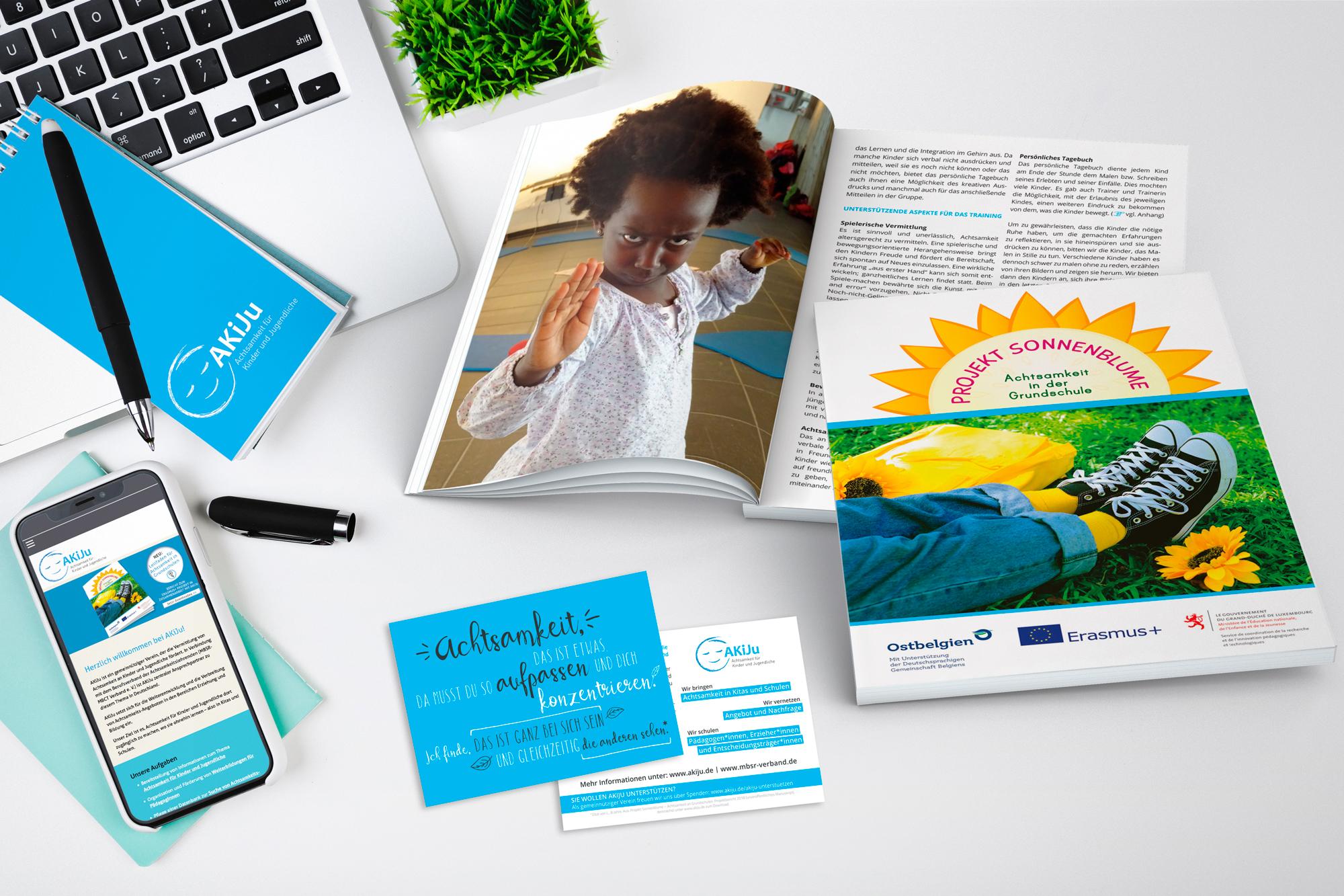 Kunde: MBSR Verband Berlin / AKiJu - Broschüre Achtsamkeit an Schulen