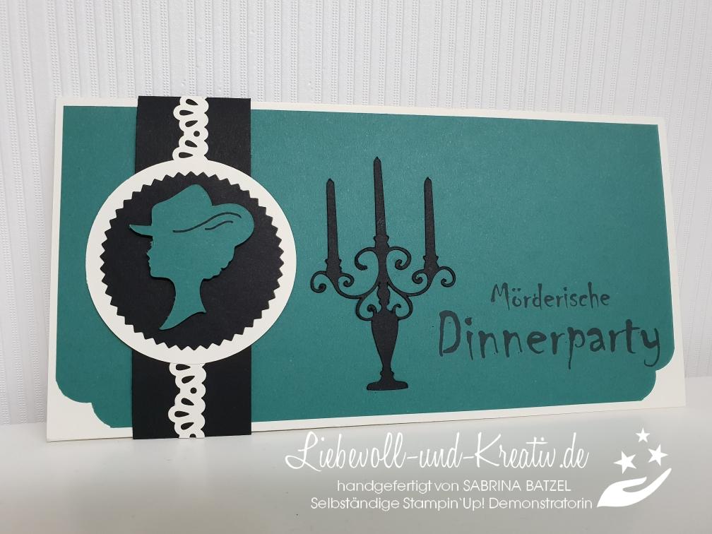 einladung zum krimi dinner liebevoll und kreativ handgefertigt von und mit sabrina batzel mit. Black Bedroom Furniture Sets. Home Design Ideas