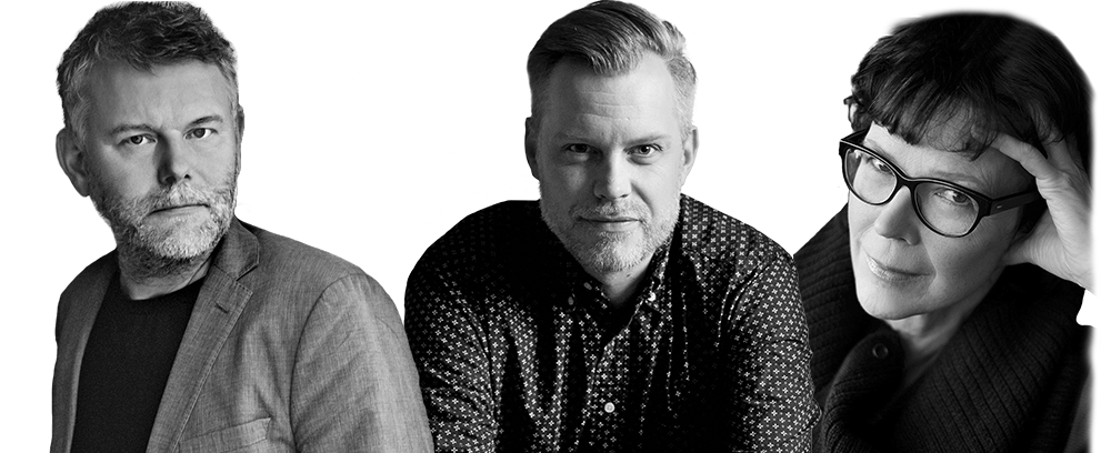 Arne Dahl (Foto: © Sara Arnald), Joakim Zander (Foto: © Emil Malmborg), Tove Alsterdal (Foto: © Annika Marklund)
