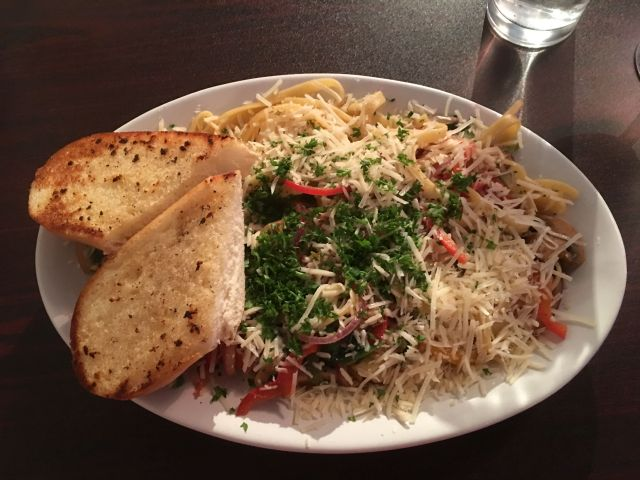 Fettuccini im Peace Tree Cafe in Monticello - super lecker!