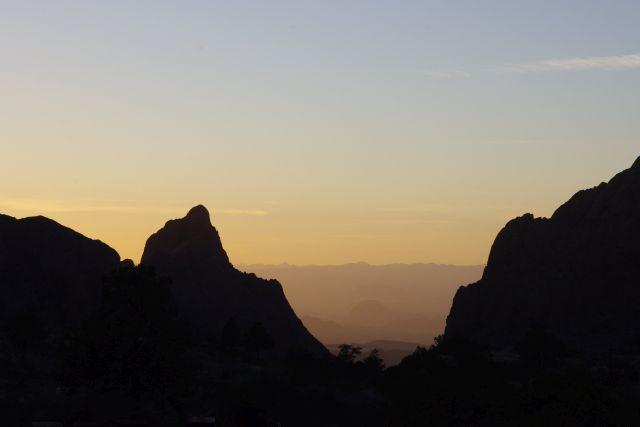 Sunset von der Restaurant-Terrasse aus