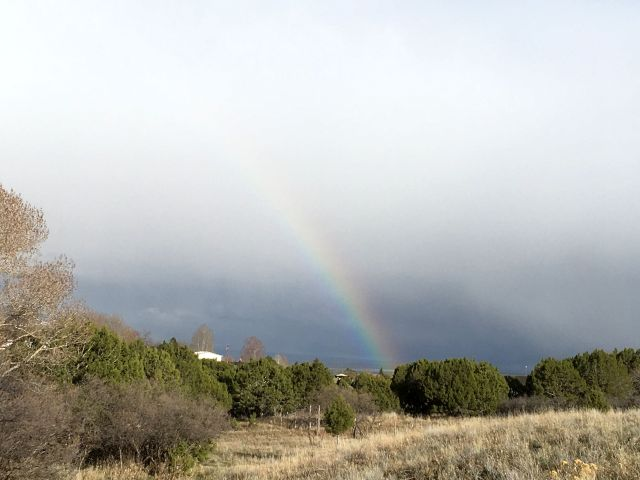 Regenbogen auf dem Weg nach Monticello
