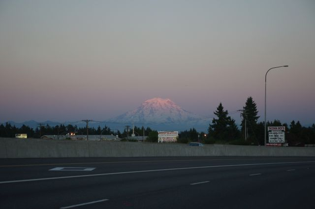 Mt. Rainier in der Abendsonne
