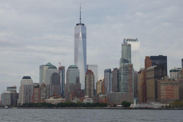 Rückfahrt an die Spitze Manhattans