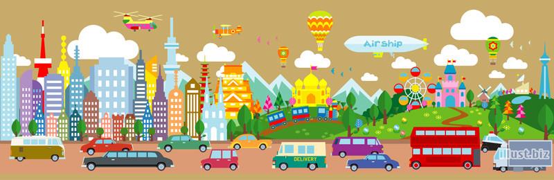 Illustration Adobe Illustrator(アドビイラストレーター) header illustration  image ヘッダーイラストレーション
