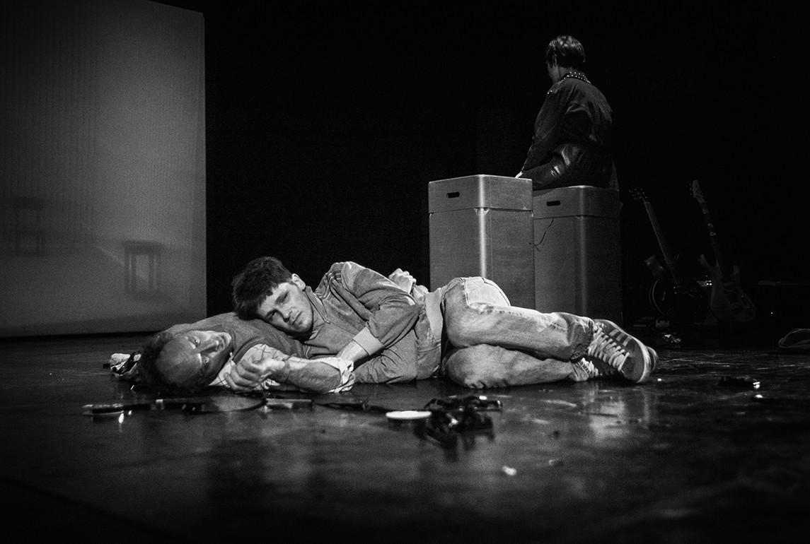 Probenfoto mit Andreas Uehlein, Ilja Pletner