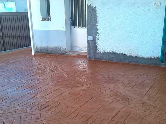 pavimentos de hormigón impreso en Madrid