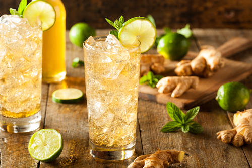 Limetten-Ingwer-Limonade