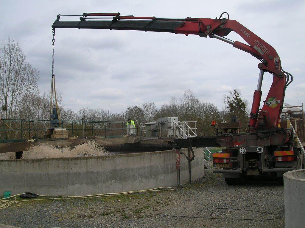 Changement Turbine Station Epuration Gennes