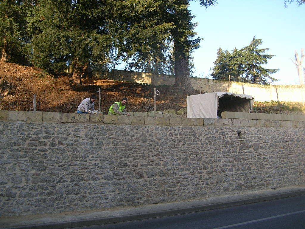 Finalisation Rénovation Mur Avenue des Cadets