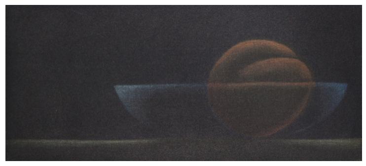 Fruchtschale, Mezzotinto 8.5x19