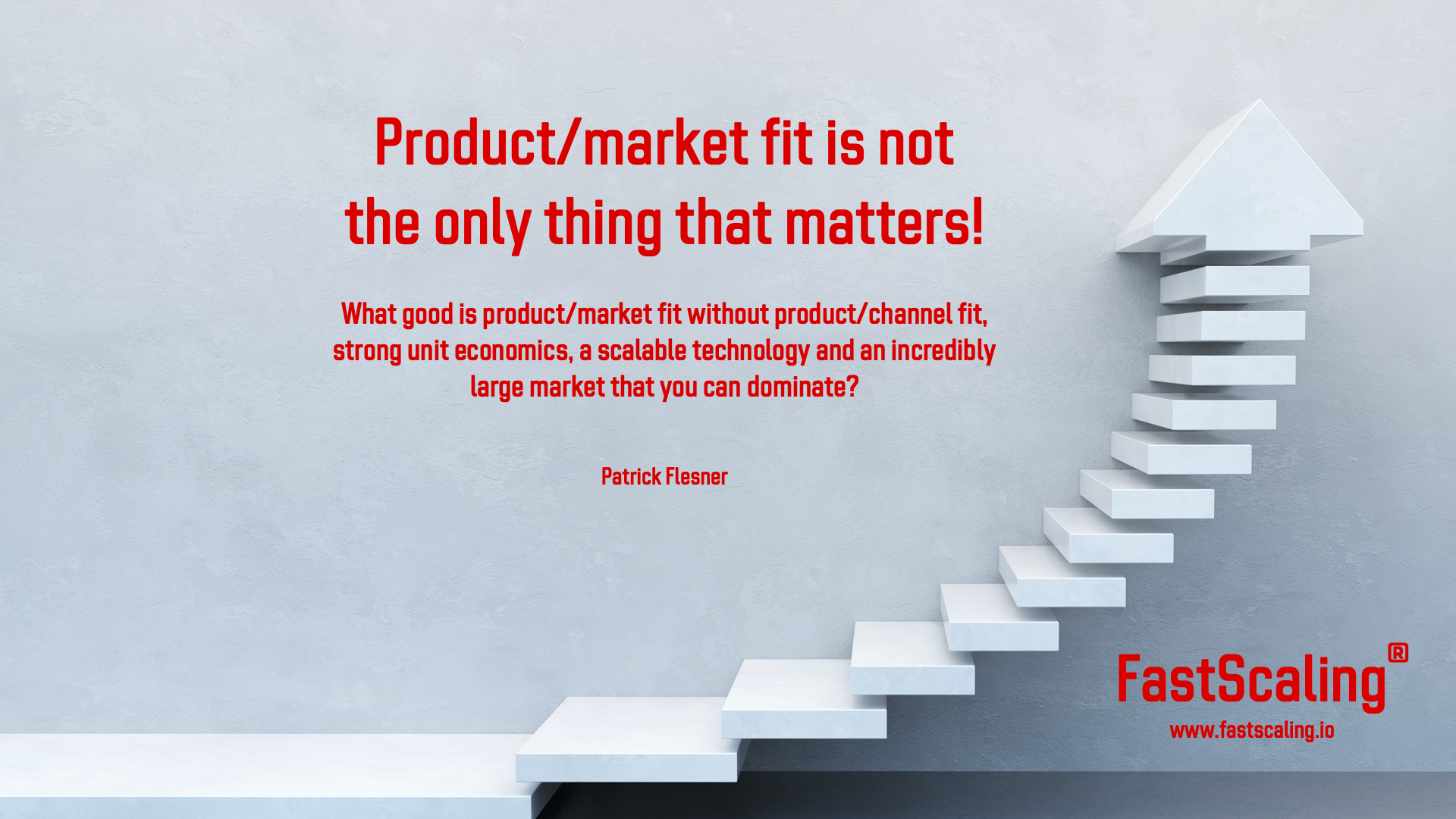 Product/Market Fit Is Not the Only Thing That Matters