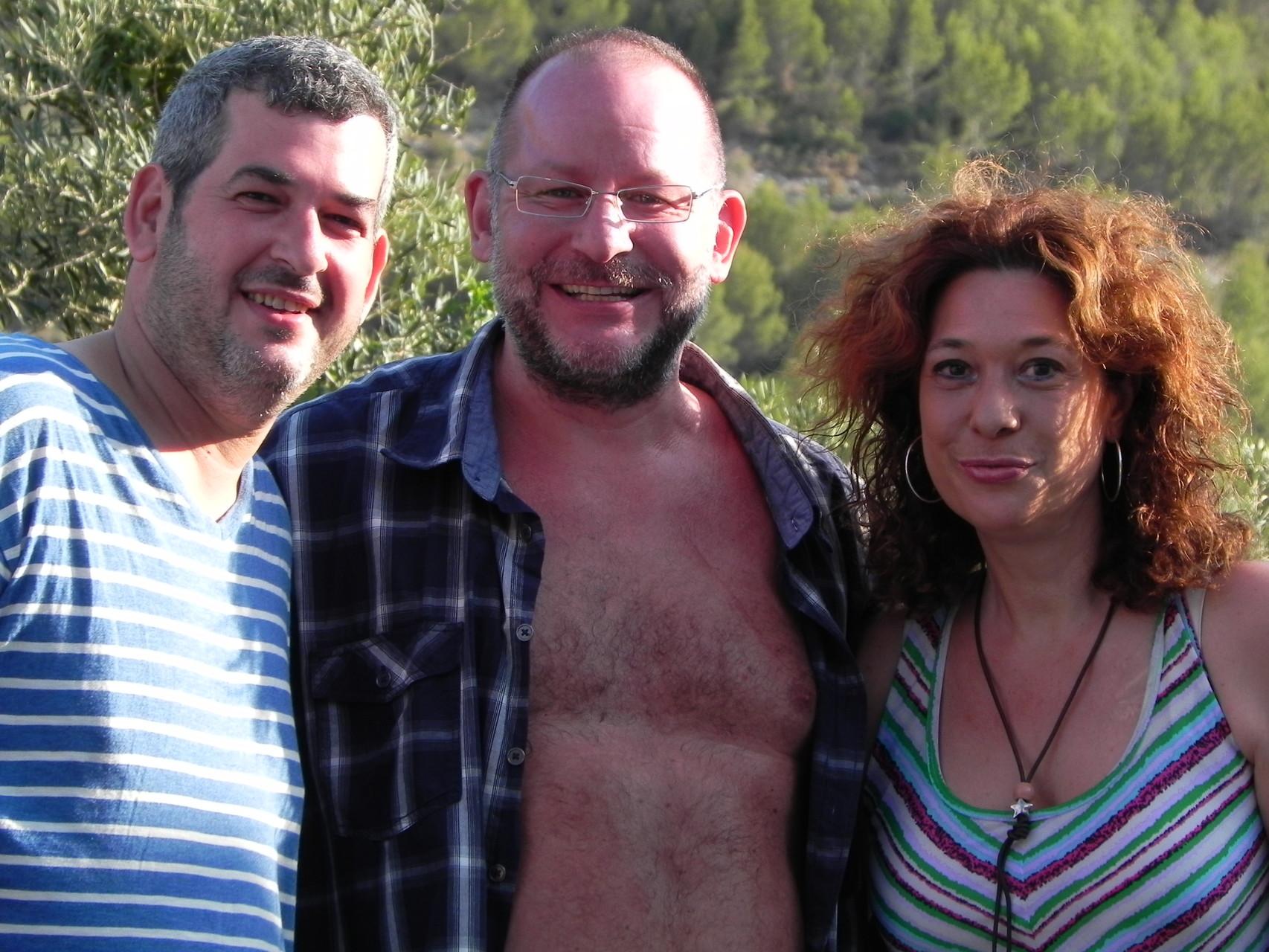 Ingo mit unseren Spaniern Tony und Cari