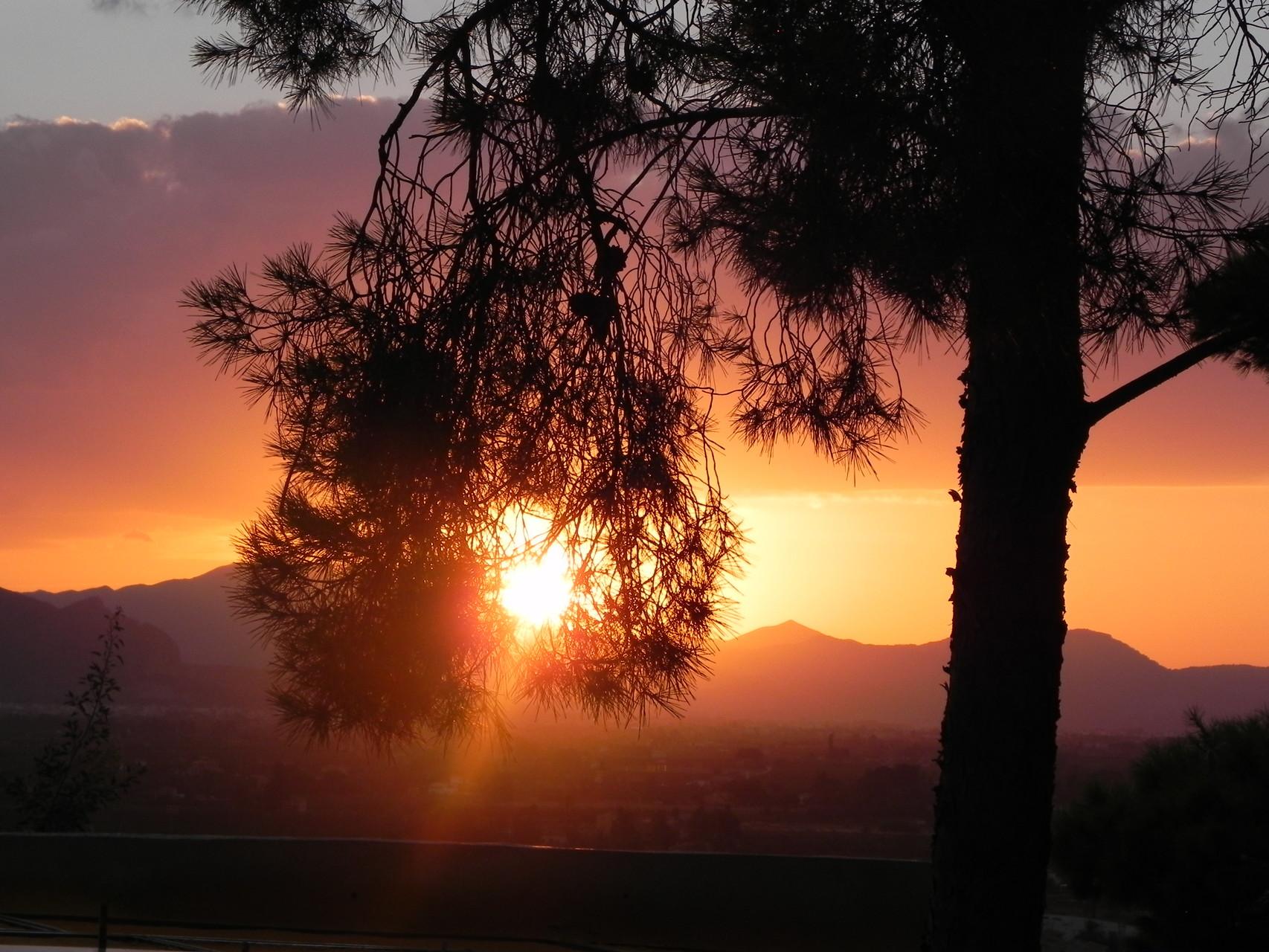 Sonnenuntergang von der Burgmauer